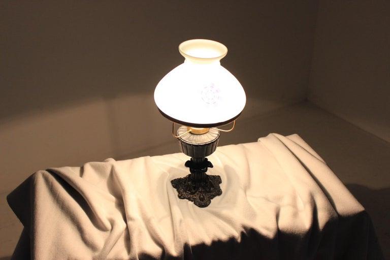 Glass Retro Table Lamp, Czechoslovakia For Sale