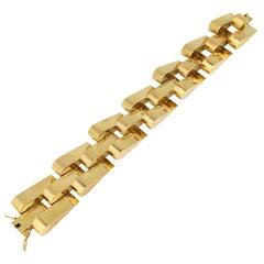 Retro Tank Bracelet, 18kt Yellow Gold, circa 1940