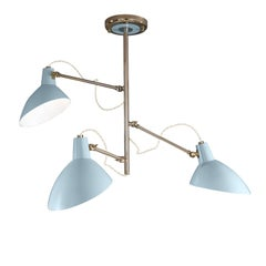 Retro Tiffany Three-Light Ceiling Lamp