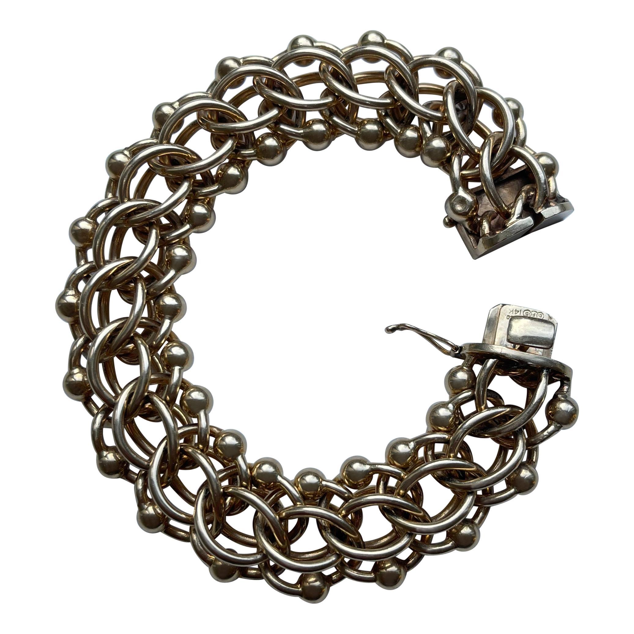 Retro Tiffany & Co. 14 Kt Yellow Gold Bracelet