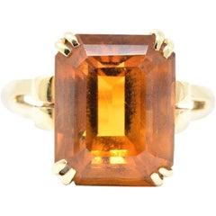 Tiffany & Co. Retro 7.25 Carats Citrine 18 Karat Gold Cocktail Ring