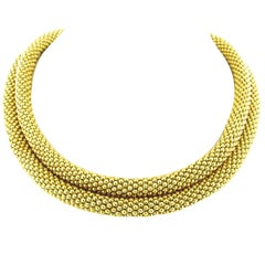 Retro Tiffany & Co. Double Wrap Yellow Gold Necklace