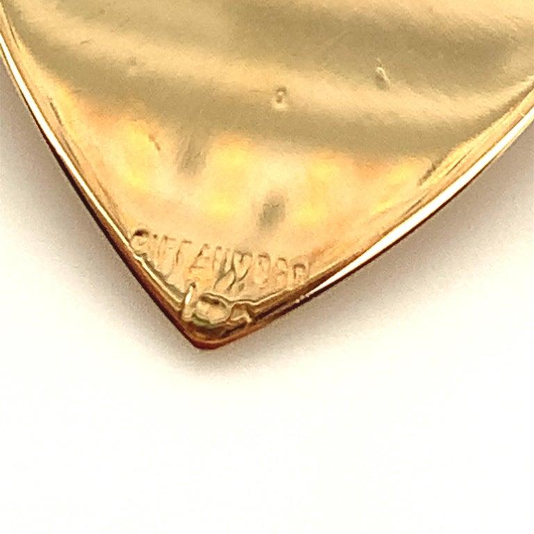 Women's or Men's Retro Tiffany & Co. Heart & Green Garnet Necklace For Sale