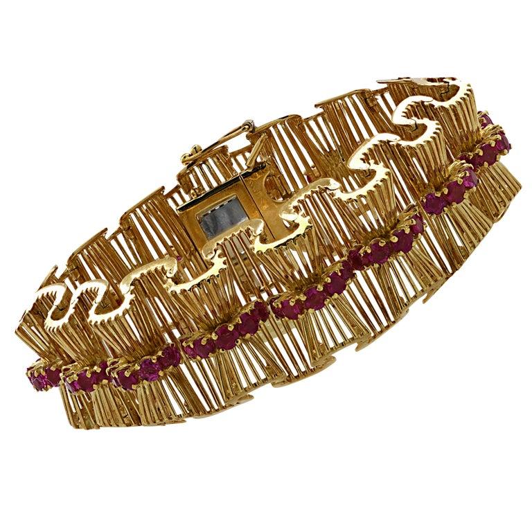 Retro Tiffany & Co. Ruby Bracelet For Sale 1