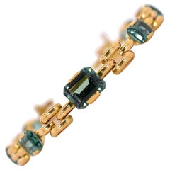 Retro Tourmaline Gold Bracelet