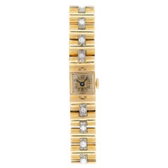 Retro Van Cleef & Arpels 18 Karat Yellow Gold and 3 Carat Diamond Dress Watch