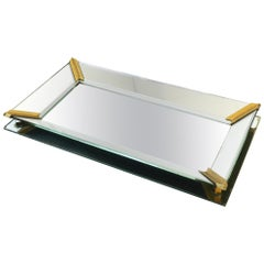 Retro Vanity Mirror Tray