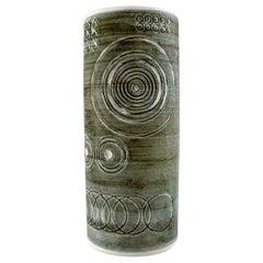 """Retro Vase """"Sarek"""", Stoneware, Olle Alberius, Rörstrand, 1960s-1970s"""
