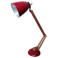 Retro Vintage Wooden Anglepoise Light, 1950s