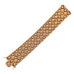 Retro Wide Rose Gold Bracelet