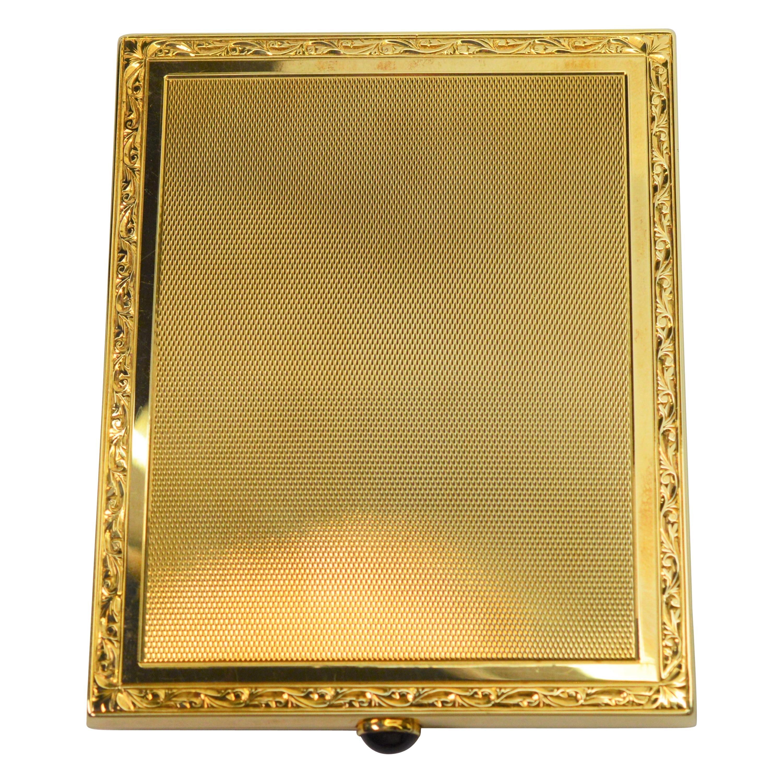 Retro Yellow Gold Cigarette Case