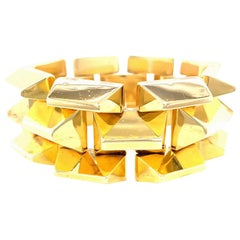 Retro Yellow Gold Tank Bracelet
