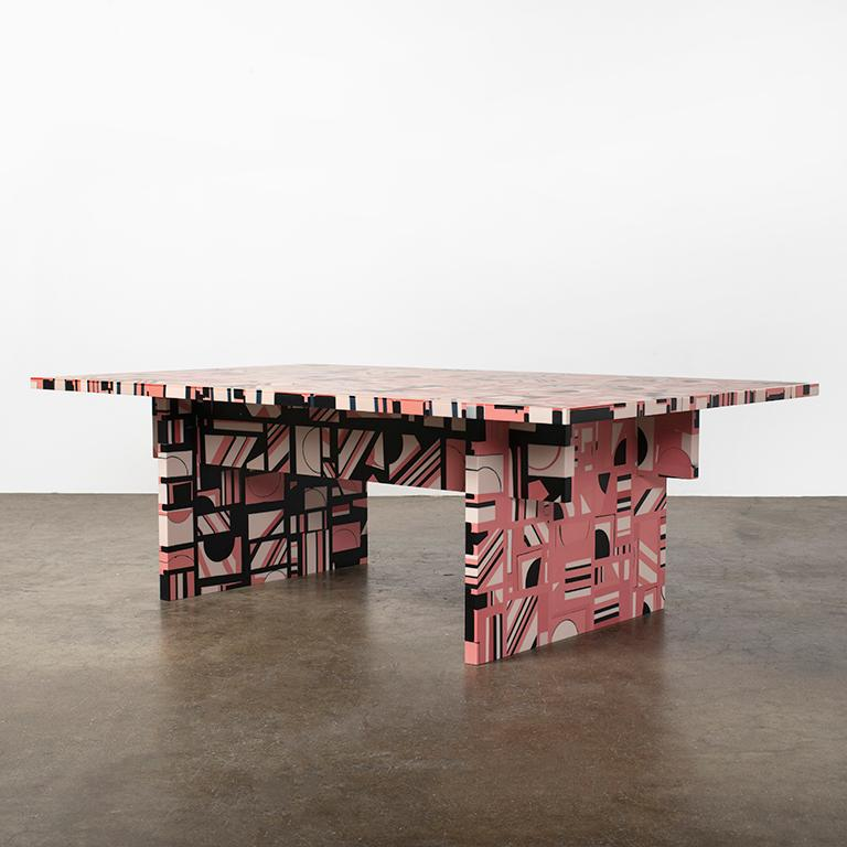 Retrograde Coffee Table in Resin by Elyse Graham For Sale 4