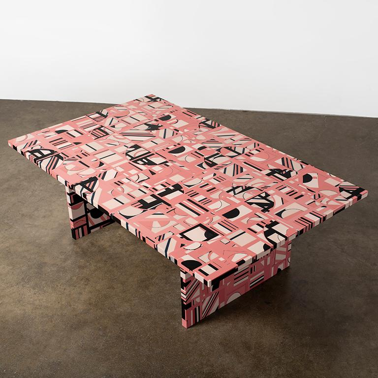 Retrograde Coffee Table in Resin by Elyse Graham For Sale 5