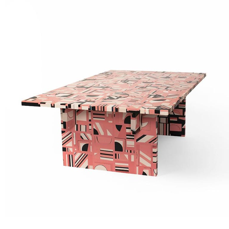 American Retrograde Coffee Table in Resin by Elyse Graham For Sale