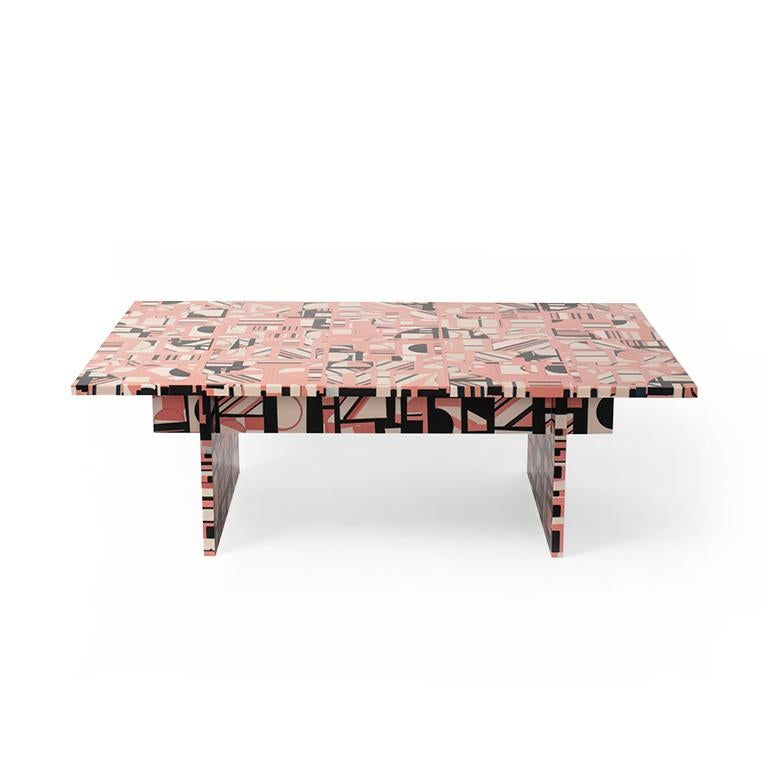 Cast Retrograde Coffee Table in Resin by Elyse Graham For Sale