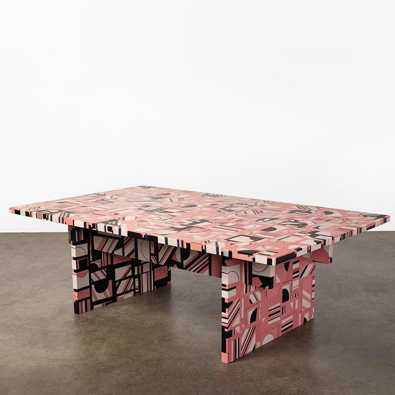 Retrograde Coffee Table in Resin by Elyse Graham For Sale 3
