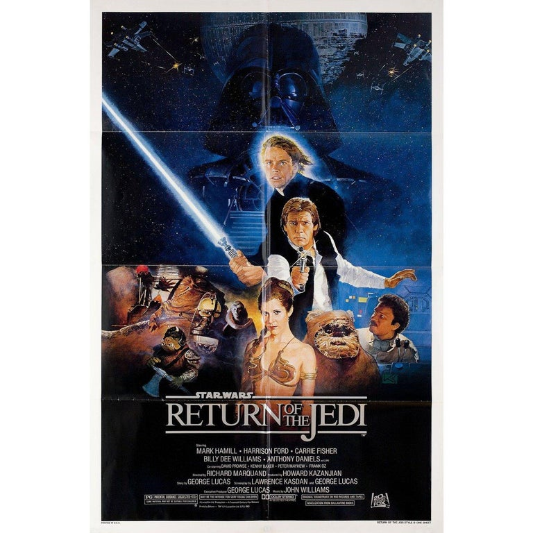 Return of the Jedi 1983 U.S. One Sheet Film Poster In Good Condition For Sale In New York, NY