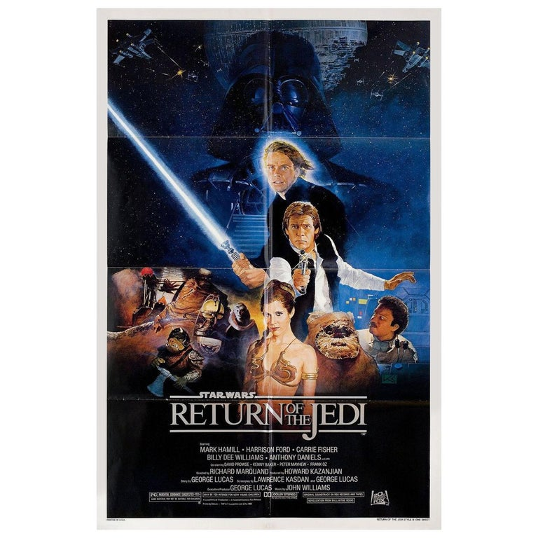 Return of the Jedi 1983 U.S. One Sheet Film Poster For Sale