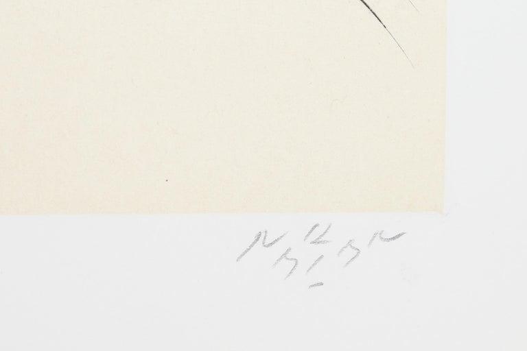 Leda and the Swan III - Gray Figurative Print by Reuben Nakian