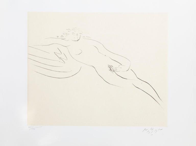 Reuben Nakian Figurative Print - Leda and the Swan III