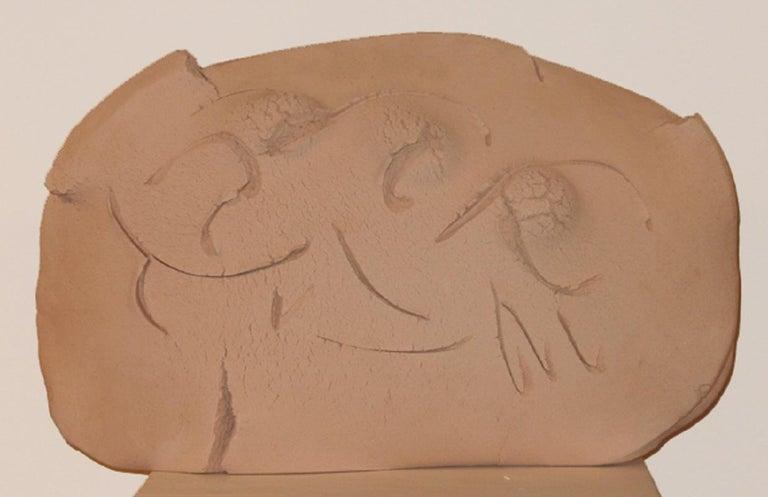 Abstract terracotta sculpture