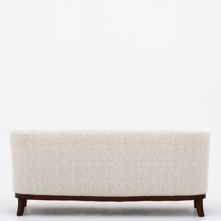 Reupholstered 3-seat sofa in Pierre Frey fabric (Bridget Meringue 001). Danish cabinet maker.
