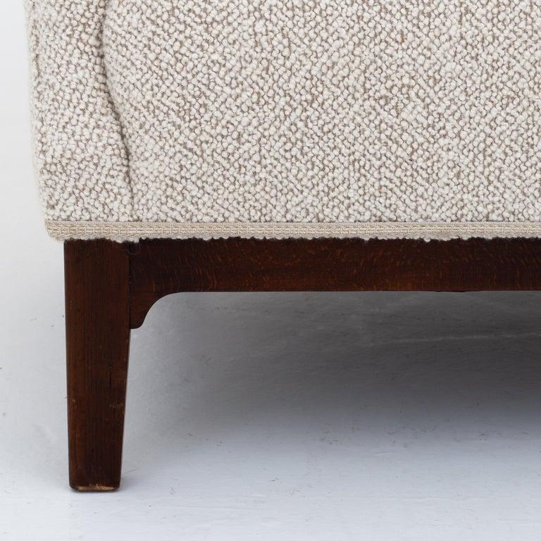 Danish Reupholstered 3-Seat Sofa For Sale