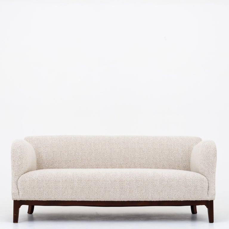 20th Century Reupholstered 3-Seat Sofa For Sale
