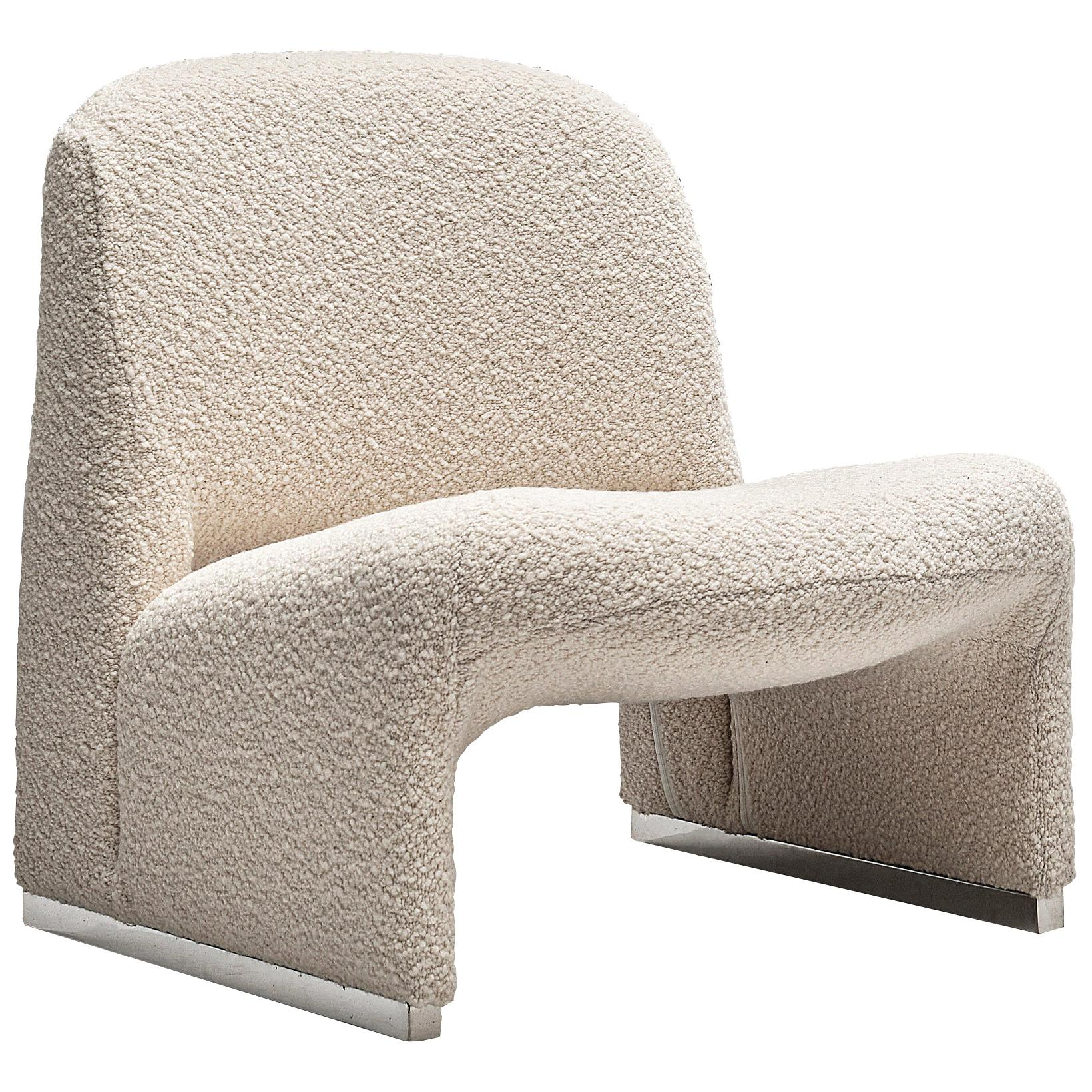 Reupholstered 'Alky' Lounge Chair in the Style of Giancarlo Piretti