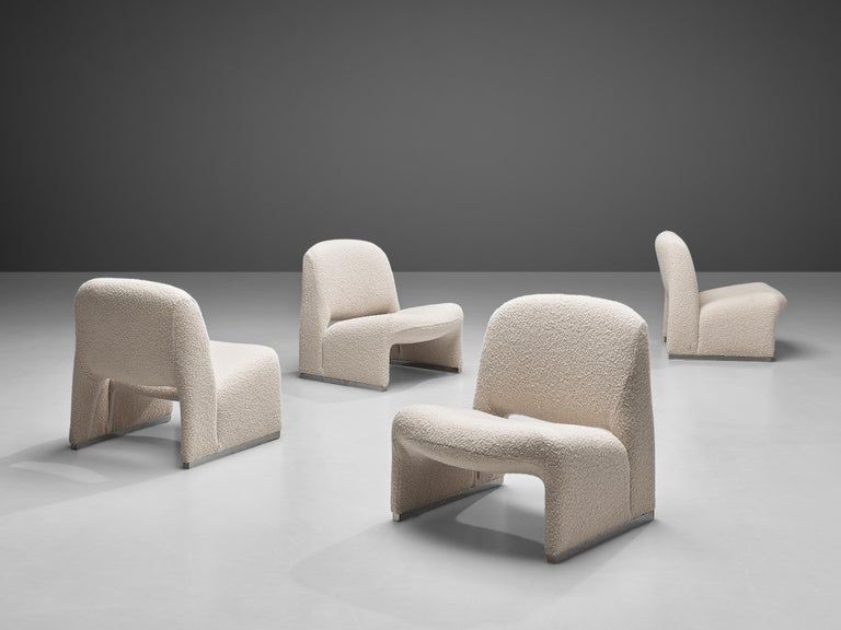 Italian Reupholstered 'Alky' Lounge Chairs in the Style of Giancarlo Piretti For Sale