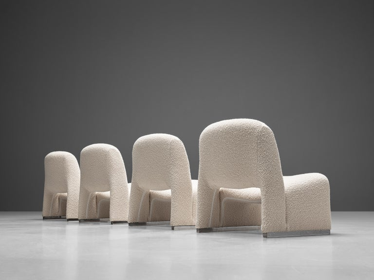 Late 20th Century Reupholstered 'Alky' Lounge Chairs in the Style of Giancarlo Piretti For Sale