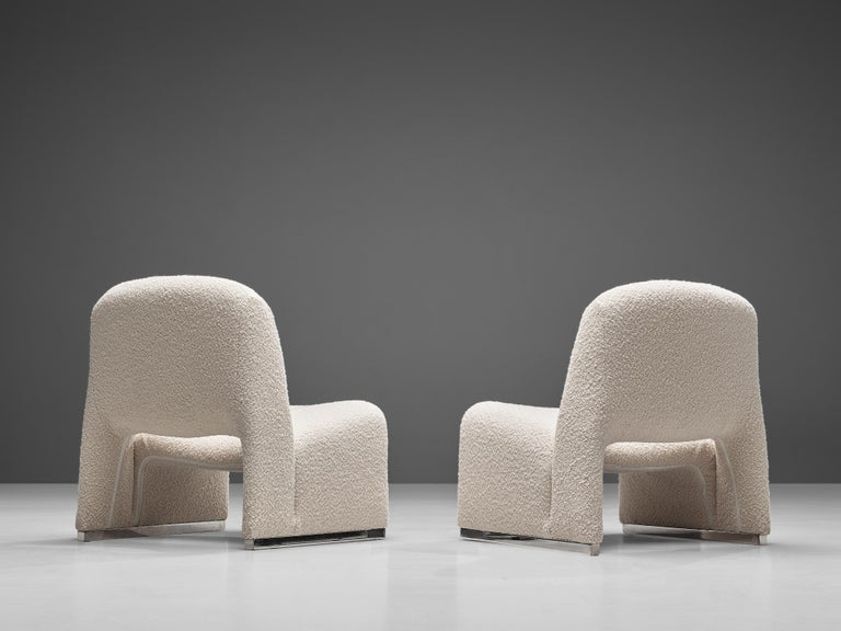 Reupholstered 'Alky' Lounge Chairs in the Style of Giancarlo Piretti In Good Condition For Sale In Waalwijk, NL