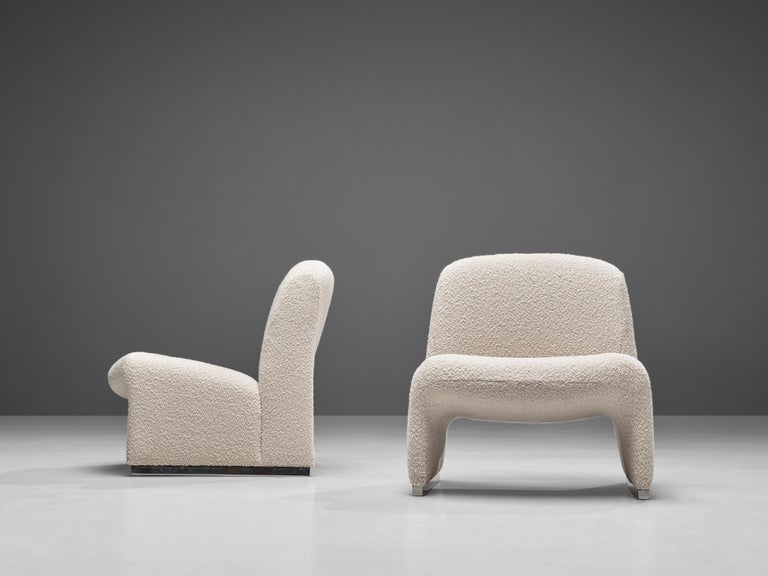 Reupholstered 'Alky' Lounge Chairs in the Style of Giancarlo Piretti For Sale 2
