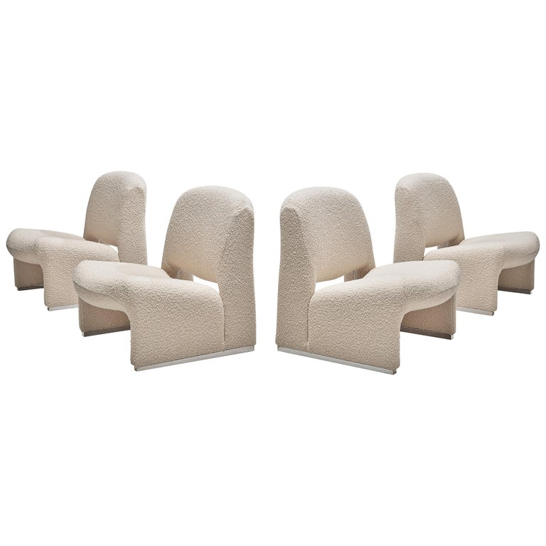 Reupholstered 'Alky' Lounge Chairs in the Style of Giancarlo Piretti For Sale