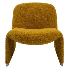 Reupholstered Bouclé Alky Chair by Giancarlo Piretti for Castelli, Italy, 1970s