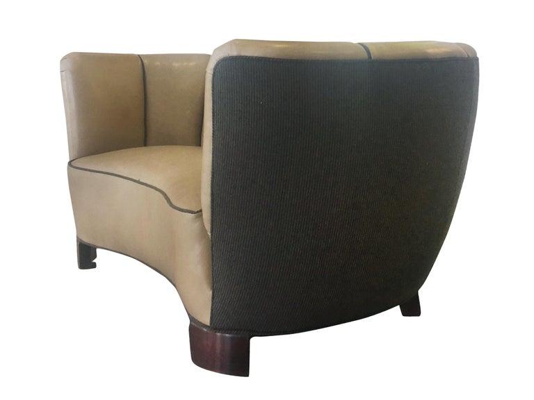 Reupholstered Danish Modern Settee by Slagelse Møbelvaerk In Good Condition For Sale In New York, NY