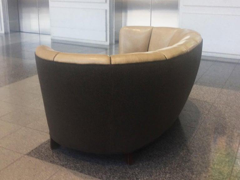 Reupholstered Danish Modern Settee by Slagelse Møbelvaerk For Sale 1