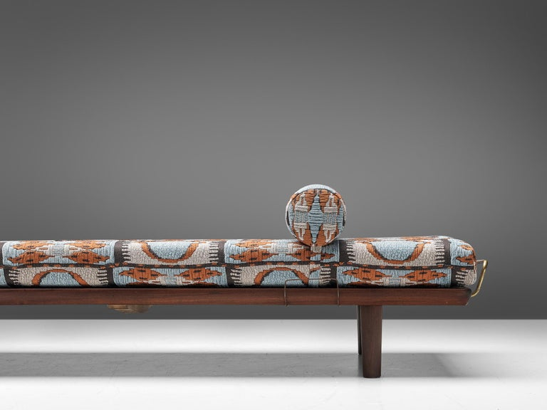 Mid-Century Modern Reupholstered Daybed in Pierre Frey by Hans Wegner for GETAMA