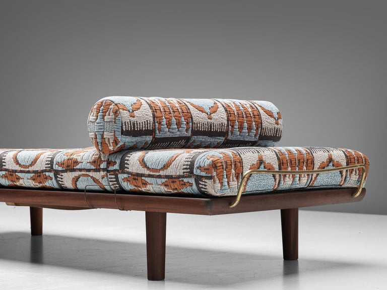 Danish Reupholstered Daybed in Pierre Frey by Hans Wegner for GETAMA