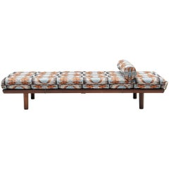 Reupholstered Daybed in Pierre Frey by Hans Wegner for GETAMA