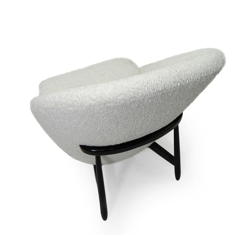 """Reupholstered in Bouclé Theo Ruth """"115"""" Lounge Chairs for Artifort, 1950s 1"""