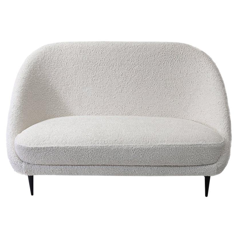 """Reupholstered in Bouclé Theo Ruth """"115"""" Sofa for Artifort, 1950s"""