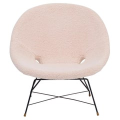 Reupholstered Italian Mid-Century Modern Chair by Augusto Bozzi for Saporiti
