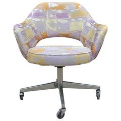 Reupholstered Knoll Saarinen Purple Swivel Executive Modern Office Chair