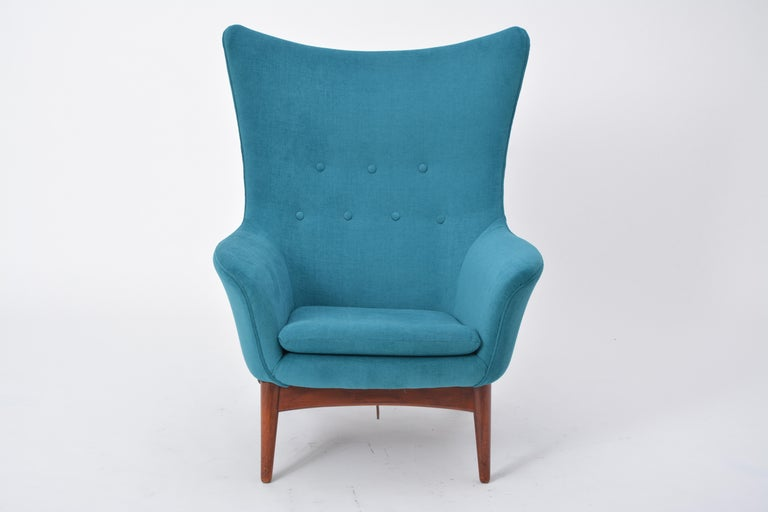 Reupholstered Model 207 Reclining Lounge Chair Designed by H.W. Klein 2