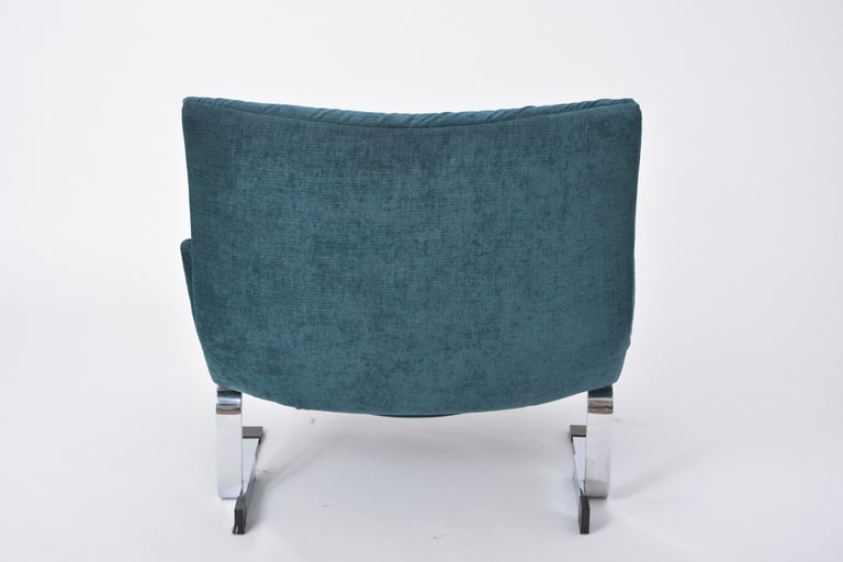 Reupholstered Onda Lounge Chair by Giovanni Offredi for Saporiti, Italy, 1970s In Good Condition For Sale In Berlin, DE