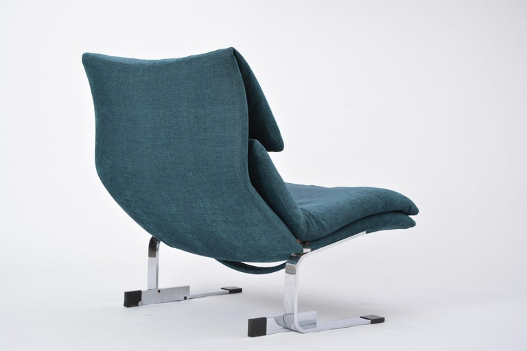 20th Century Reupholstered Onda Lounge Chair by Giovanni Offredi for Saporiti, Italy, 1970s For Sale