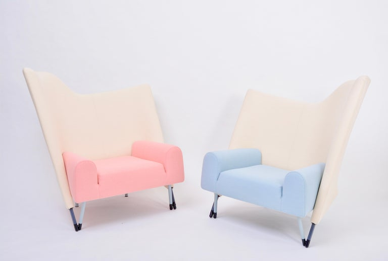 Reupholstered Torso Lounge Chair Designed by Paolo Deganello For Sale 10