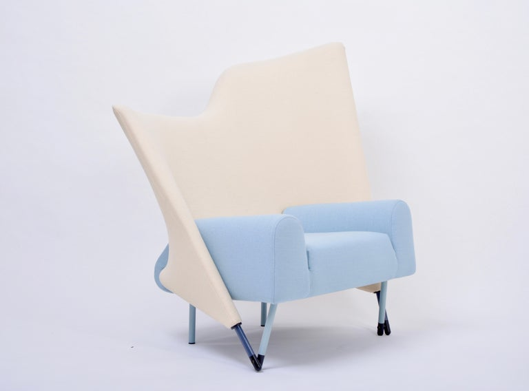 Post-Modern Reupholstered Torso Lounge Chair Designed by Paolo Deganello for Cassina, 1980s For Sale
